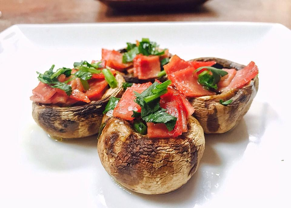Spanish Turkey Bacon and Mushroom Tapas
